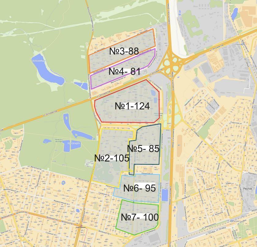 Карта стендов района